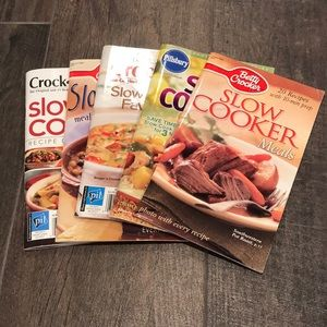 Other - Lot of 5 slow cooker magazine style cookbooks